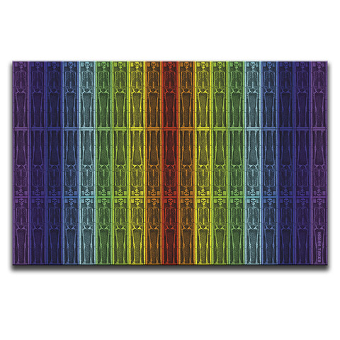 Behind The Visible Light Rainbow Canvas Wall Art by Indian Taker