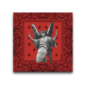 Fake Ass Gangstas Throwing Fake Ass Gang Signs Red Canvas Wall Art by Indian Taker