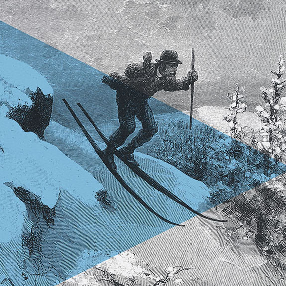 Formal Skiing Canvas Detail