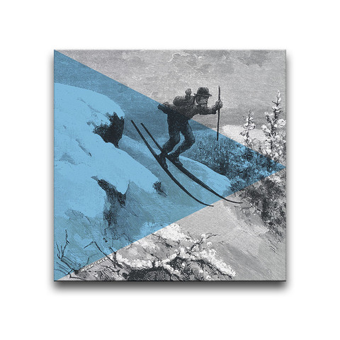 Formal Skiing Canvas Wall Art by Indian Taker