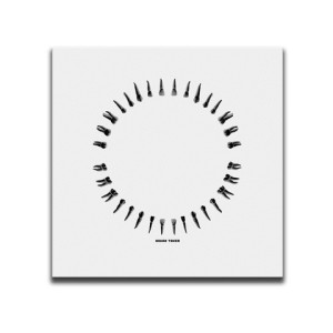 Open Wide White And Black Square Canvas Wall Art by Indian Taker