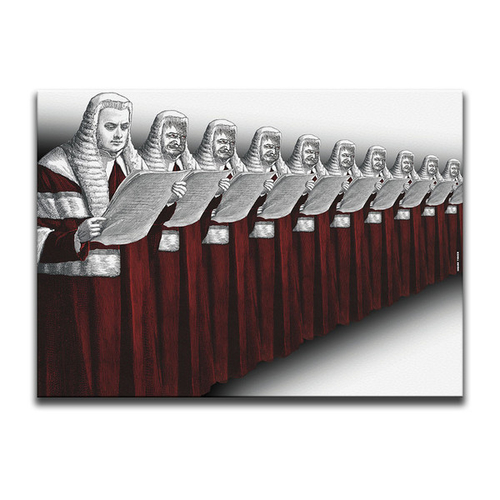 Possession Is Nine-Tenths Of The Law (High Court Edition) Canvas Wall Art by Indian Taker