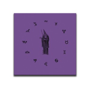 Wizard Of The Twelve Signs Purple Canvas Wall Art by Indian Taker