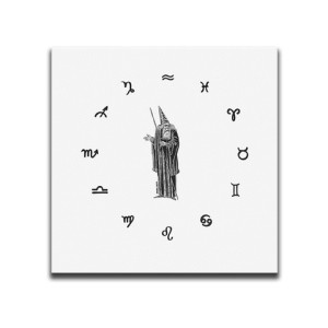 Wizard Of The Twelve Signs White Canvas Wall Art by Indian Taker